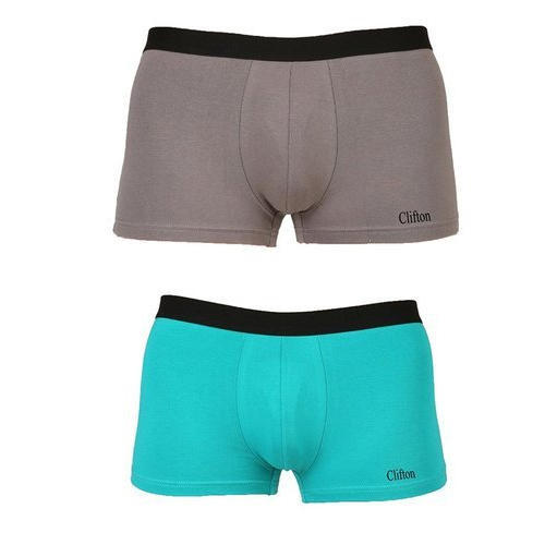 Grey And Green Cotton Mens Trunk Underwear c1631496c11f