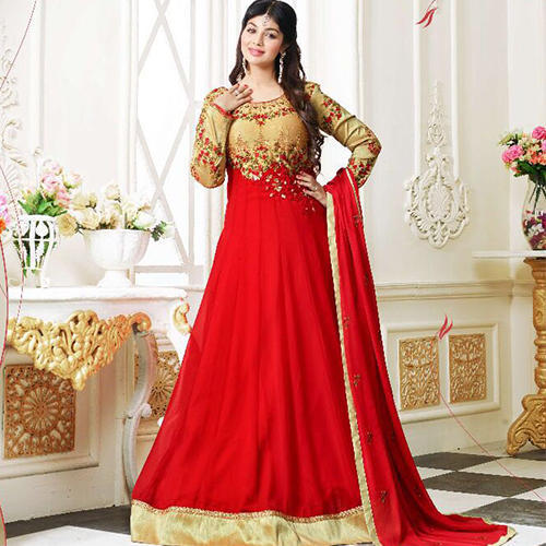 Georgette Heavy Embroidery Party Wear Suit