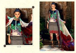 Party wear Straight Printed Embroidery Lawn Cotton Suit