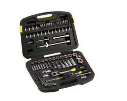 86 Pc. 1/4 and 1/2 Sq.Dr. 6PT Socket Set