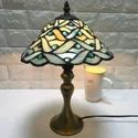 Led Antique Stylish Multicolor Glass Table Lamp, For Decoration