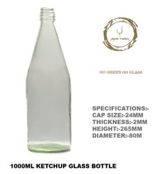 1000 ML ROUND KETCHUP GLASS BOTTLES