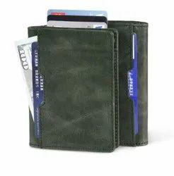 Genuine Leather Credit Card Holder-RFID Blocking