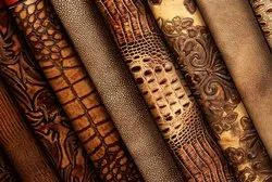 Brown Embossed Printed Leathers, Thickness: 1.3 Mm