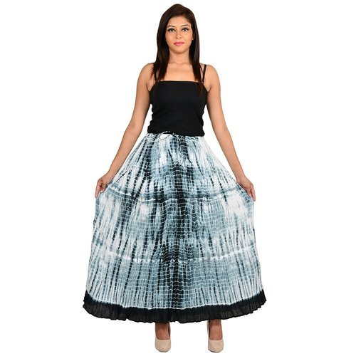 2a75df32d3 Long Cotton Black Tie-Dye Skirt, Rs 250 /piece, Yuva International ...