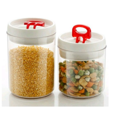 Homestar Round Airtight Cereal Storage Plastic Containers, Packaging Type: Box