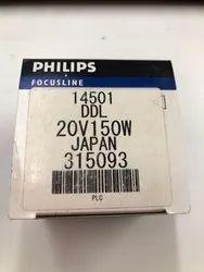 Aluminium Glass Philips 20V 150W DDL Halogen Lamp, Base Type: GY6.35, 20 V