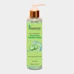 Kazima Green Tea & Cucumber Vanilla Body Wash & Shower Gel, Pet Bottle With Dispenser Pump, Packaging Size: 200 Ml