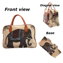 SHEENAZ Loop Handle Canvas Bag, Size/Dimension: 17*12
