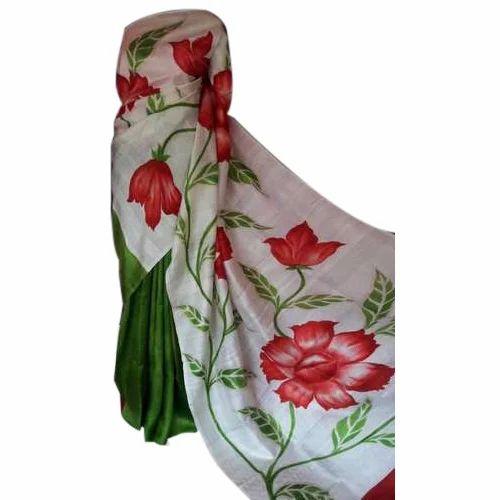 Silk Flowers Hand Painted Saree Rs 2850 Piece Prarambho Mudra