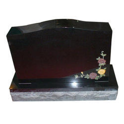 Toshibba Impex Black Granite Headstone, 20 to 25 mm