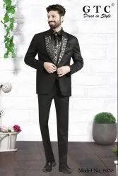 Party Black Men''s Designer And Corporate Suit