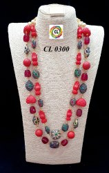 Semi Precious Coral Natural Tumble Stone Custom Jewellery Ornaments Set Bulk Buy Cl Jewellery