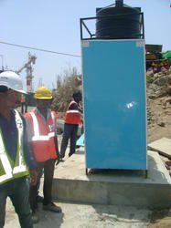 FRP Blue Mobile Bio Toilet