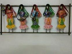 Metal Handicrafts Big Size Standing Rajasthani Musician - Set of 5