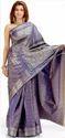 Blue & Gold Handloom Cotton Saree
