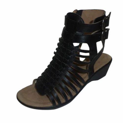 770350578e833 Mediconfort Ladies Black Casual Sandal