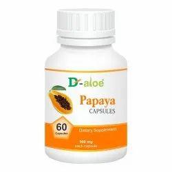 D-Aloe Papaya Capsule, 60 Capsules, Treatment: Dietary Supplement