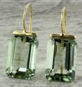 Green Amethyst Earring Danglers