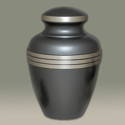 Grey Finish Brass Urn