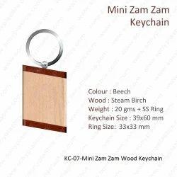 Wooden Keychain-KC-07-Mini Zam Zam Keychain