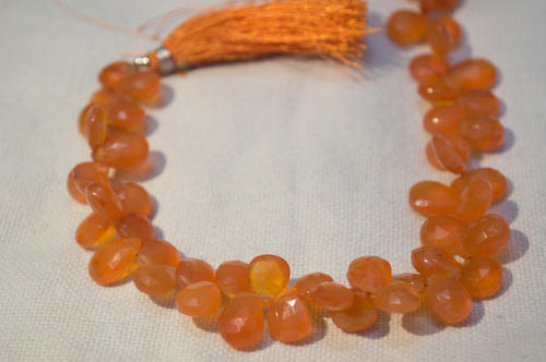 Natural Carnelian Gemstone Faceted Briolette Awesome Coin Shape Beads 8-9 MM 9 Inch Long 1 Strand Nice Beads Free Shipping