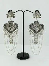 Designer Oxidized Earring