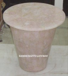 Gemstone Rose Quartz Table Top