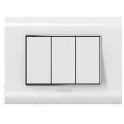 Curve Plus Series White Switch Plate