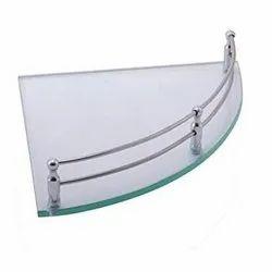 Toughened Glass Corner Shelf