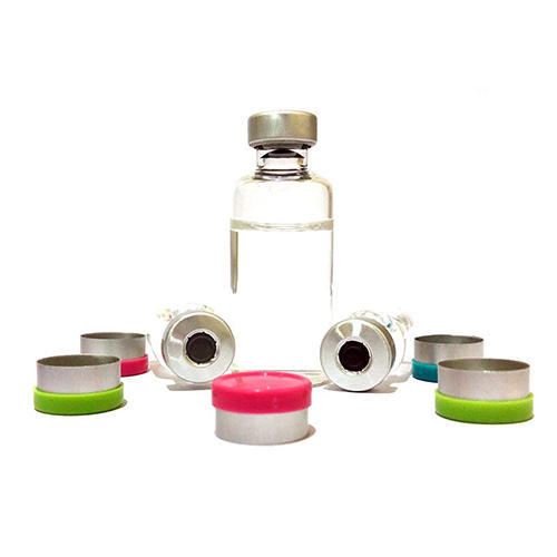 Aluminium With Plastic Round Bottle Vial Seals, Packaging Type: Corrugated Box