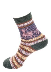 Ladies Printed Winter Socks