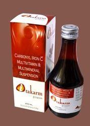 Carbonyal Iron Syrup- Carbonyl Iron 60mg Thiamine Hydrochloride 1mg   Riboflavin 1mg   Pyridoxine Hy