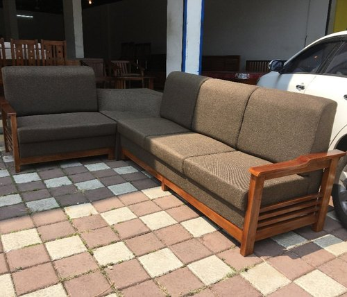 Lrf L Teak Wood Corner Sofa 22 Size, Teak Wood Corner Sofa Set Designs Pictures