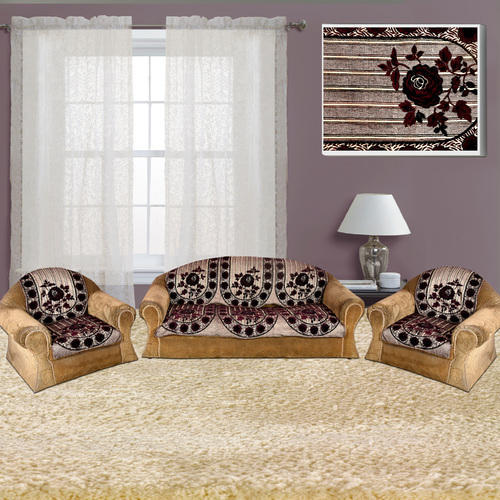 Floral Sofa Cover 5 Seater