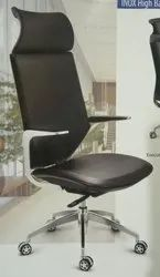 Leather Black Inox High Back Director Chair