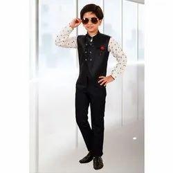 Cotton Party Wear Black Kids Pant Shirt, Age: 1 To 10 Yesr