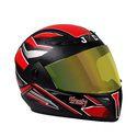 JMD Trusty Decor With Mirror Visor Full Face Bike Helmet