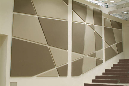 Fiber Wrapped Acoustical Wall Panelling Auditorium Works