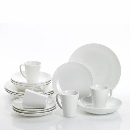 White Melamine Dinner Set Rs 799 Set Karnavati Tableware Id