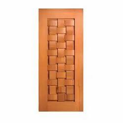 Wood Interior Wooden Laminated Door, Brown