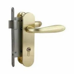 Golden Mortise Brass Door Lock, Antique