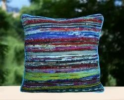 Handmade Rug Cushion Cover Indian Hand Loom Pillow Cases