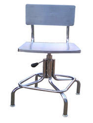 TGPE Mirror/Matt Pharma Stainless Steel Revolving Chair
