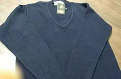 Woolen V Neck Uniform Sweater