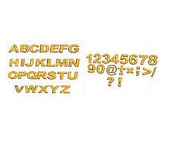 Golden Letters and Figures