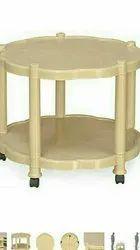 Cream Plastic Nilkamal Round Center Table, for Home