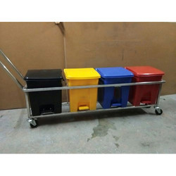 Medical Waste Bin Set With Trolley