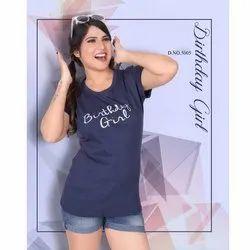 Ladies Half Sleeve Printed T Shirt