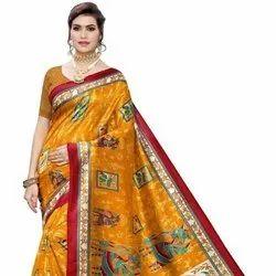 Digital Printed Saree With Cheap